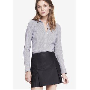 Express The Essential Striped Button Down Shirt -
